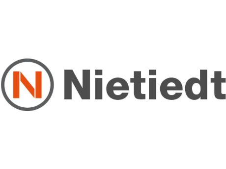 Logo der Firma Nietiedt Gerüstbau für das Schlickschlittenrennen